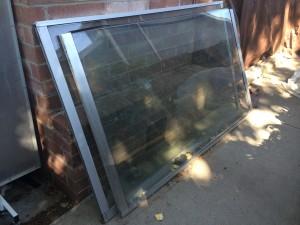 Used Double Pane Glass Sliding Doors