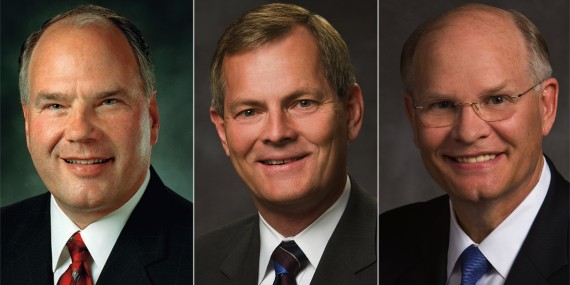 Elder Ronald A. Rasband, Elder Gary E. Stevenson and Elder Dale G. Renlund were named to the Quorum of the Twelve Apostles of The Church of Jesus Christ of Latter-day Saints on Saturday, October 3, 2015. © 2015 by Intellectual Reserve, Inc. All rights reserved.